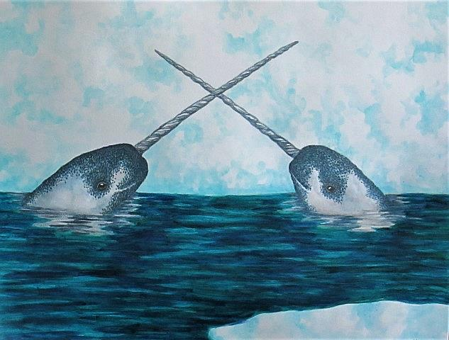 Art: Arctic Unicorns by Artist Jackie K. Hixon
