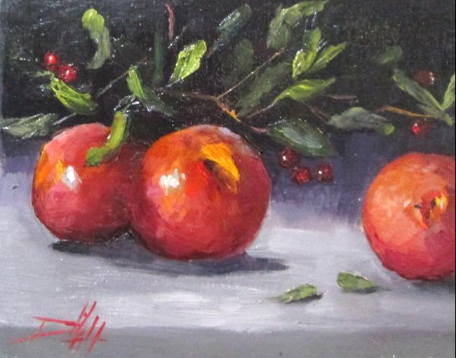 Art: Peaches and Crab Apples by Artist Delilah Smith