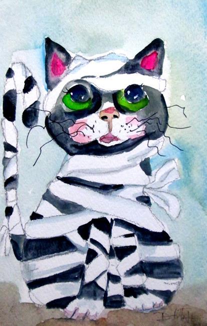 Art: Mummy Cat by Artist Delilah Smith