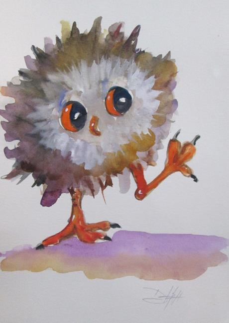 Art: Little Owl No. 4 by Artist Delilah Smith