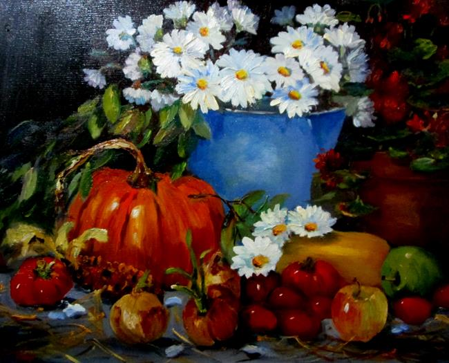 Art: Garden Still Life by Artist Delilah Smith