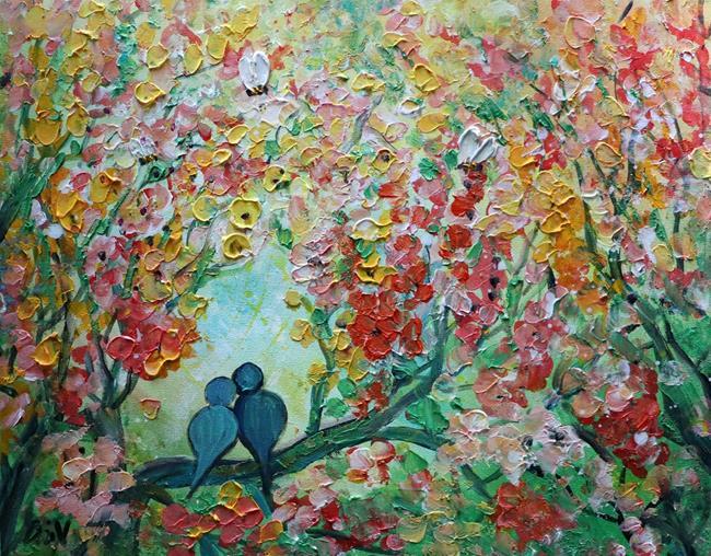 Art: The Spring Love by Artist LUIZA VIZOLI