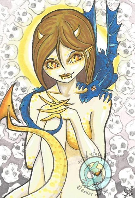 Art: The Demon Pair by Artist Emily J White