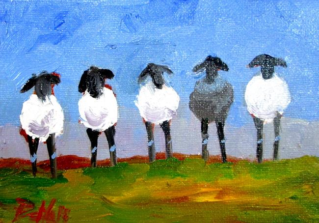 Art: A Black Sheep by Artist Delilah Smith