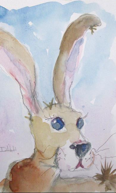 Art: Brown Rabbit No. 4 by Artist Delilah Smith