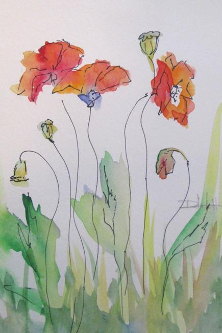 Art: Dancing Poppies by Artist Delilah Smith