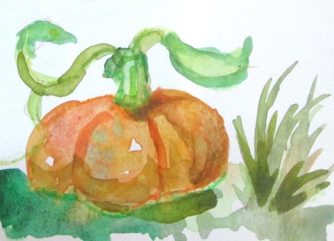 Art: Pumpkin Aceo No. 2 by Artist Delilah Smith