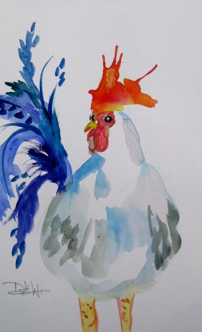 Art: Rooster No. 65 by Artist Delilah Smith