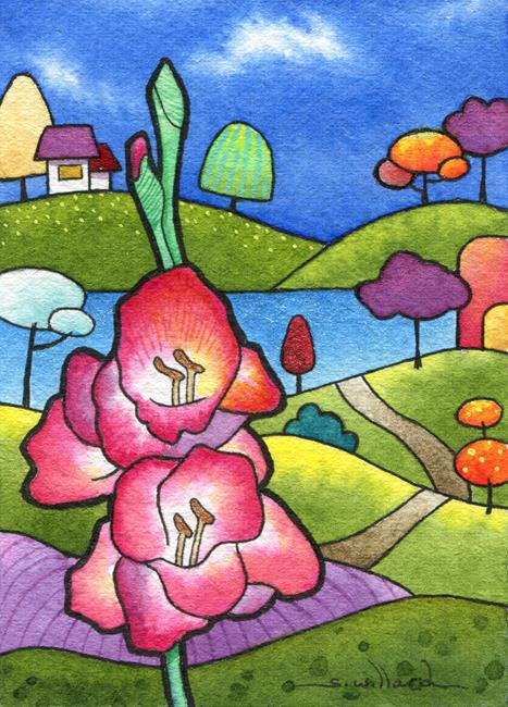 Art: Gladiola for Helen by Artist Sandra Willard