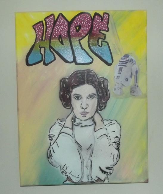 Art: Princess Leia Hope Original Graffiti Art by Artist Paul Lake, Lucky Studios