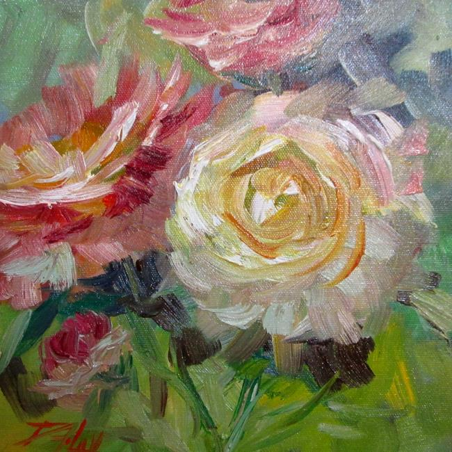 Art: Pink and White Peonies by Artist Delilah Smith