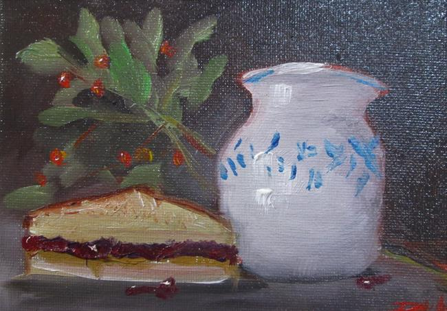 Art: P and B with Crabapples by Artist Delilah Smith