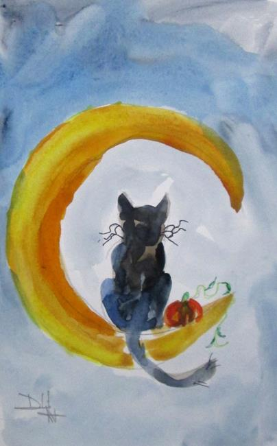 Art: Cat on the Moon by Artist Delilah Smith