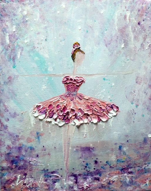 Art: Ballerina in Pink by Artist LUIZA VIZOLI