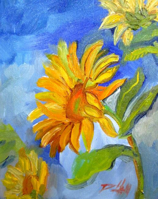 Art: Sunflowers No. 9 by Artist Delilah Smith