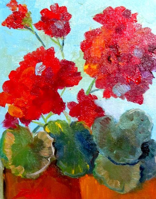 Art: Geraniums No.8 by Artist Delilah Smith
