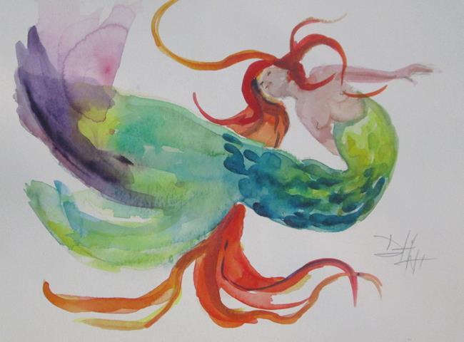 Art: Mermaid  No. 25 by Artist Delilah Smith