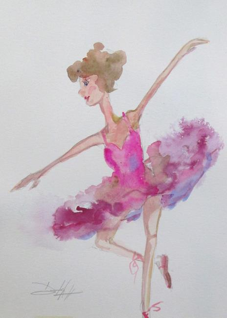 Art: Pink Tutu by Artist Delilah Smith
