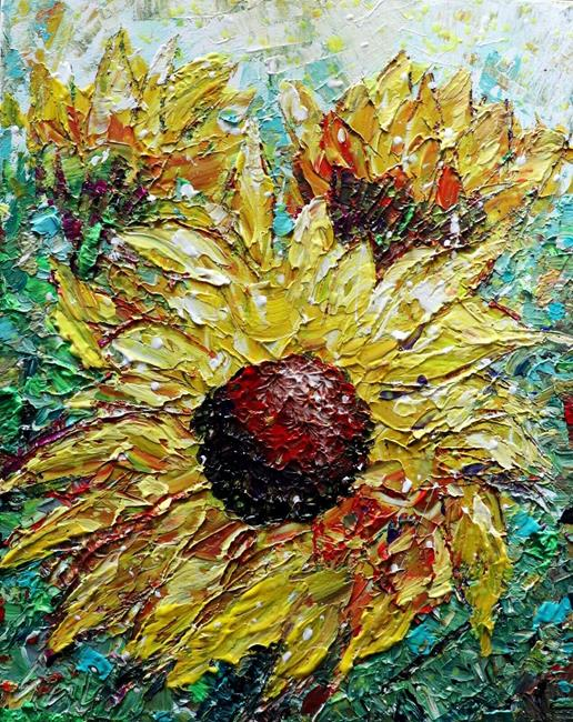 Art: WINDY SUNFLOWERS by Artist LUIZA VIZOLI