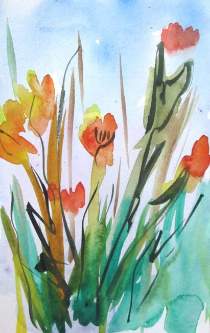 Art: Fall Flowers by Artist Delilah Smith