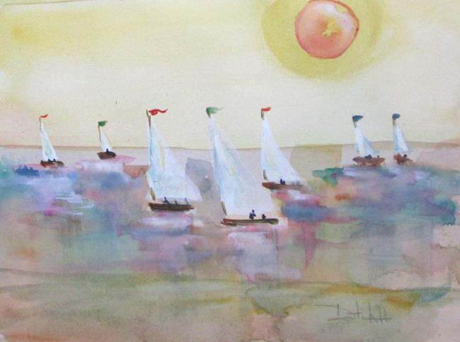 Art: Sails by Artist Delilah Smith