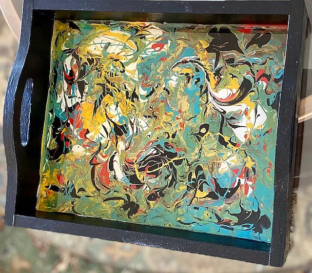 Art: Resin Finished Tray by Artist Ulrike 'Ricky' Martin
