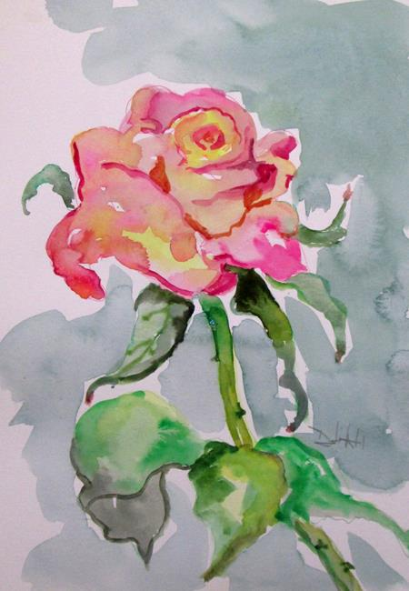 Art: Pink Rose by Artist Delilah Smith