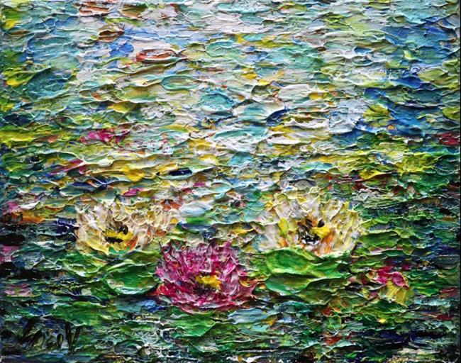 Art: Waterlilies by Artist LUIZA VIZOLI