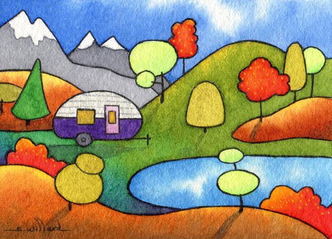 Art: Camping by the Wenatchee by Artist Sandra Willard