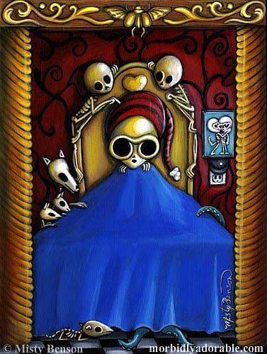 Art: Night Light Skelly by Artist Misty Monster (Benson)