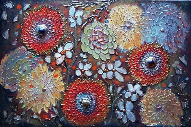 Art: Gypsy Flowers Christmas Traveler Journal by Artist LUIZA VIZOLI