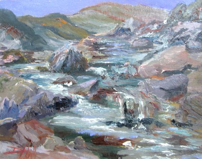 Art: Mountain Stream by Artist Delilah Smith