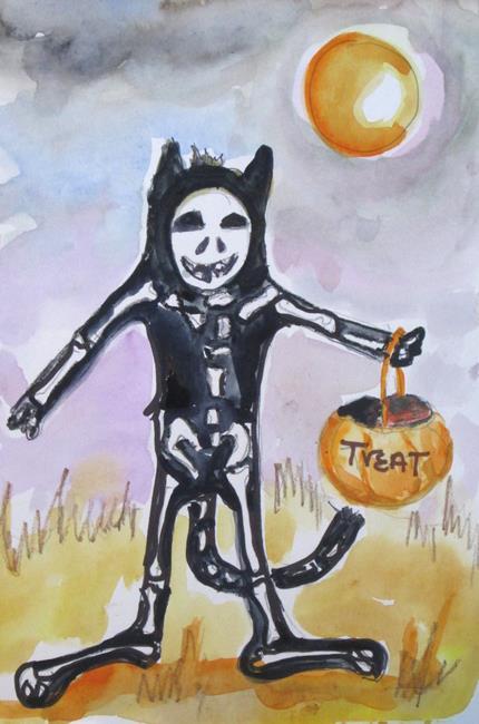 Art: Boney Cat by Artist Delilah Smith