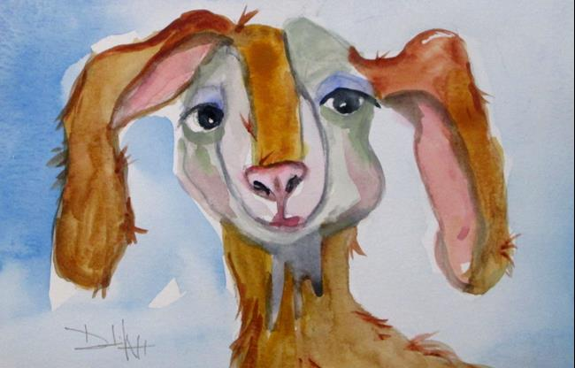 Art: Long Eared Goat by Artist Delilah Smith