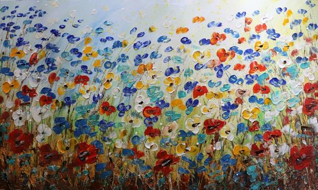 Art: MAY PRAIRIE FLOWERS by Artist LUIZA VIZOLI