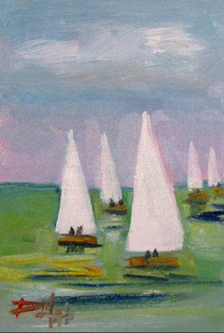 Art: White Sails by Artist Delilah Smith