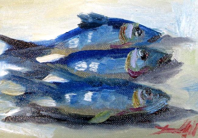 Art: Sardines No. 4 by Artist Delilah Smith