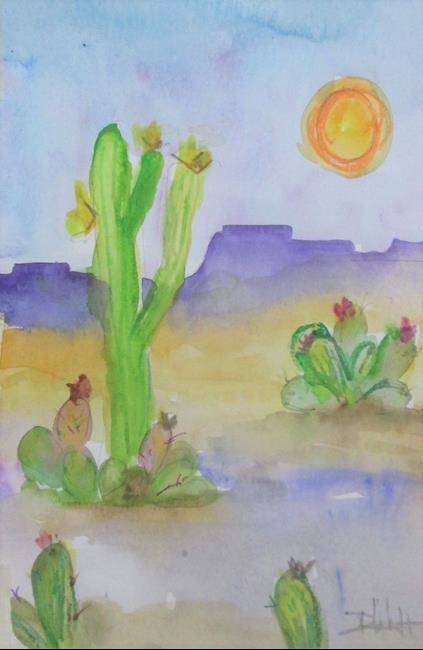 Art: Desert Sun by Artist Delilah Smith