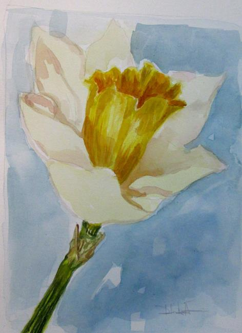 Art: Daffodil No. 7 by Artist Delilah Smith