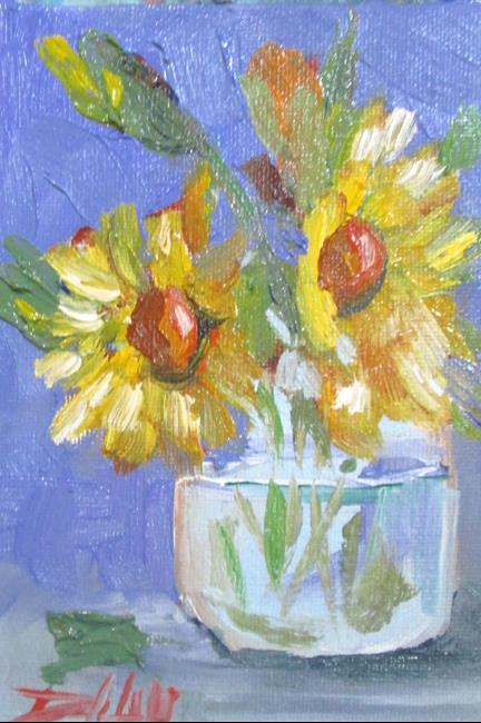 Art: Yellow Floral Still LIfe by Artist Delilah Smith