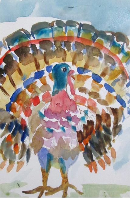 Art: Turkey No. 4 by Artist Delilah Smith