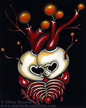Art: My Skelly Heart by Artist Misty Monster (Benson)