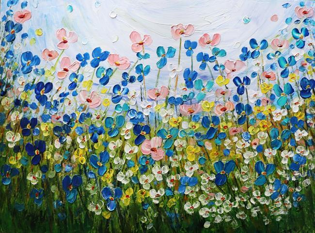 Art: WILDFLOWERS by Artist LUIZA VIZOLI