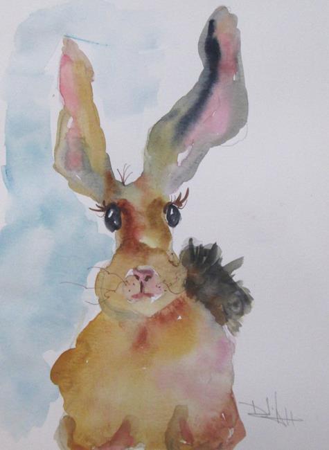 Art: Long Eared Rabbit by Artist Delilah Smith