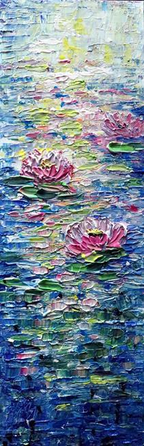 Art: WATER LILY Flowers by Artist LUIZA VIZOLI