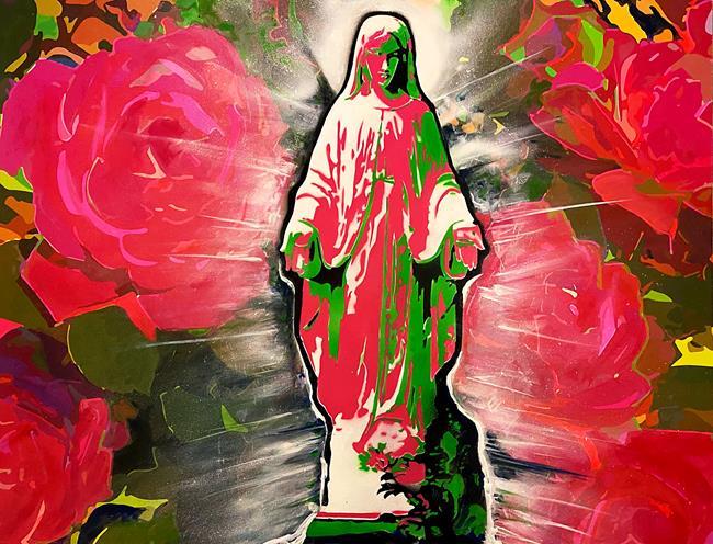 Art: Blessed Mary's Garden #1 by Artist Anthony Allegro