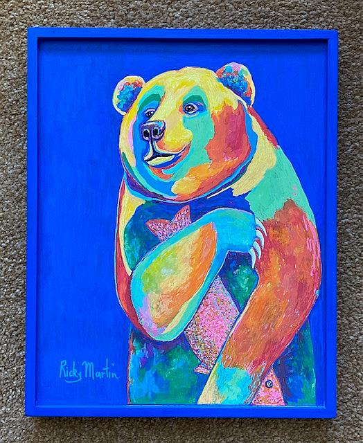 Art: Pop Art Bear by Artist Ulrike 'Ricky' Martin