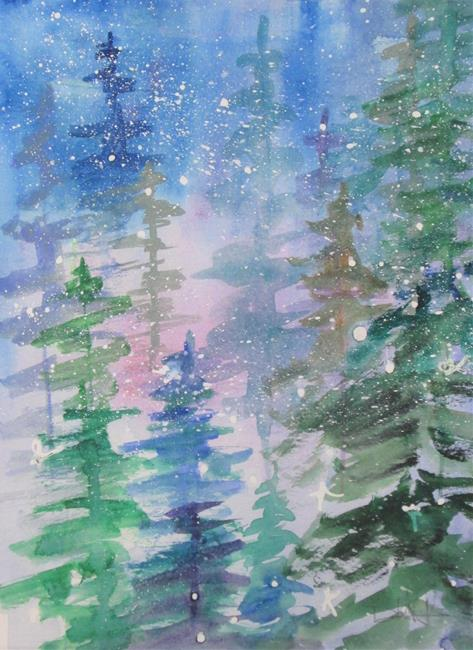 Art: Winter Snow by Artist Delilah Smith