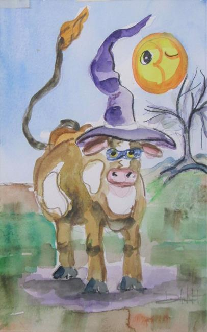 Art: Boo Cow by Artist Delilah Smith