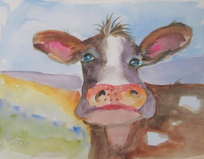 Art: Fat Cow by Artist Delilah Smith